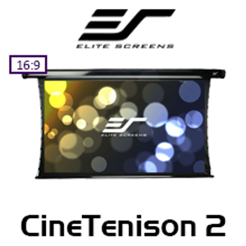 "Elite Screens CineTenison2 16:9 CineWhite Motorised Projections Screens (92 - 135"")"