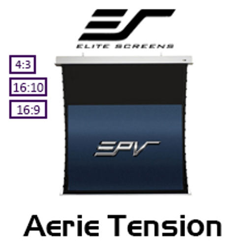 "Elite Screens Aerie Tension CineWhite In-Ceiling Projection Screens (84 - 139"")"