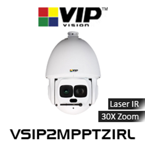 VIP Vision 2.0MP IP67 Ultra WDR Laser IR 30x Zoom PTZ Dome IP Camera