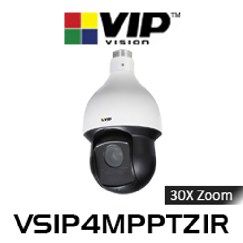 VIP Vision 4.0MP IP66 WDR Infrared 30x Zoom PTZ Dome IP Camera