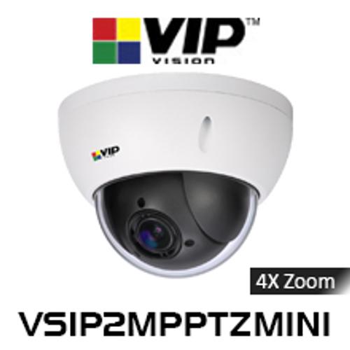 VIP Vision 2.0MP IP66 IK10 4x Zoom Mini PTZ Dome IP Camera