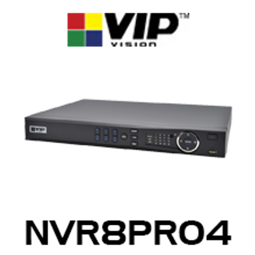 VIP Vision Professional 8 Channel 12MP Network Video Recorder with PoE (256Mbps)