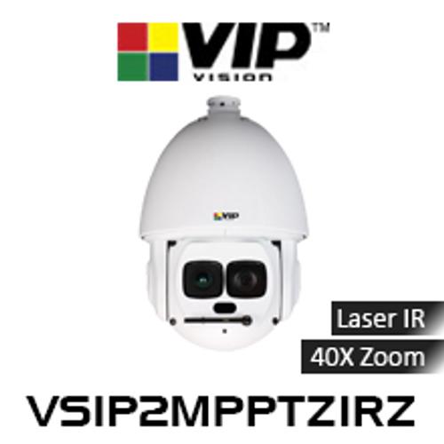 VIP Vision 2.0MP IP67 Laser IR 40x Zoom PTZ Dome IP Camera