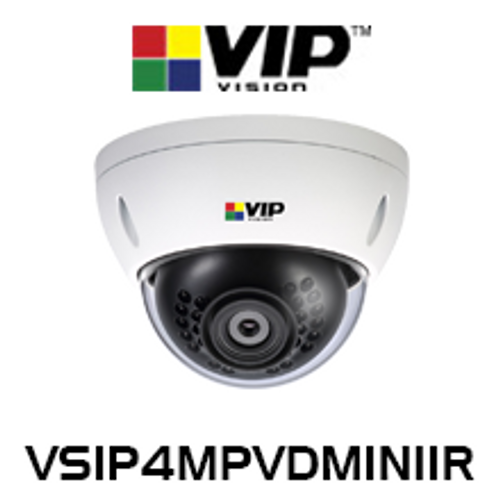 VIP Vision 4.0MP IP67 IK10 WDR Infrared Fixed Mini Dome