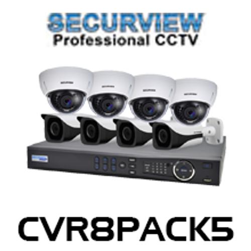 SecurView 8 Channel 1080p HDCVI Analogue Surveillance Kit