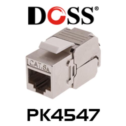 Doss PK4547 Shielded Cat6A Socket Keystone (20 pcs)