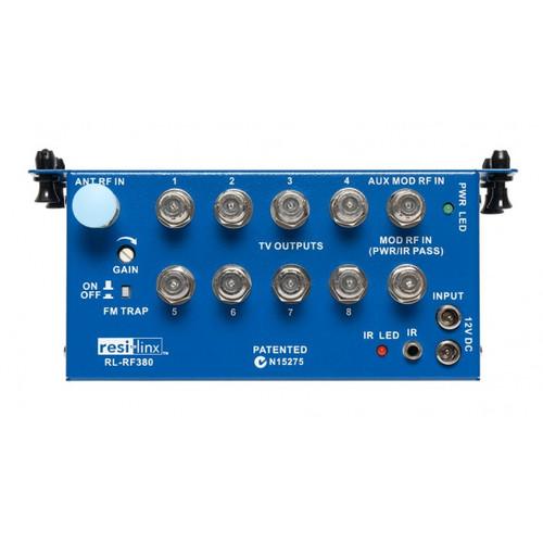 Resi-Linx RL-RF380 Antenna Splitter/Amplifier 3 Inputs, 8 Outputs