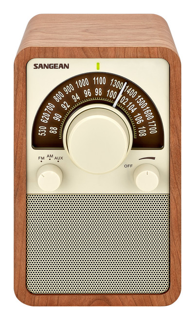 Sangean WR-15 FM/AM Wooden Cabinet Receiver