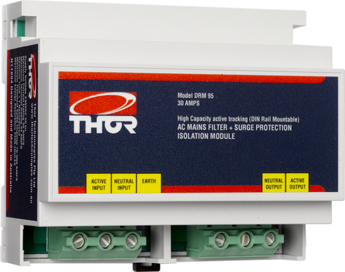 Thor DRM95 30Amp Hard Wired DIN Rail Mount Active Filter