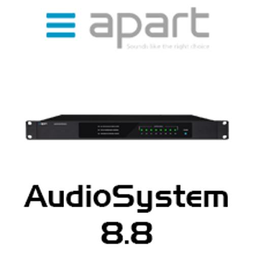 APart AudioSystem8.8 8x8 Audio Matrix With Quad FM Tuner