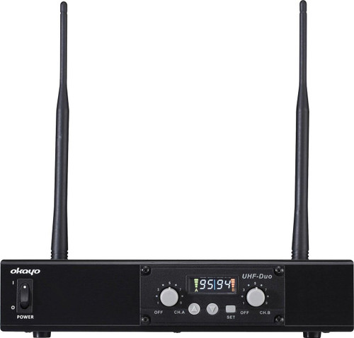 Okayo C7281A Dual Channel UHF Wireless Audio Link Receiver (520-544Mhz)