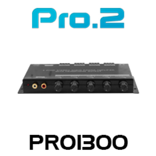 Pro.2 PRO1300 4 Zone Stereo Audio Power Amplifier With Headphone Output