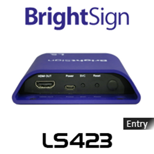 BrightSign LS423 Entry-Level Full HD Interactive Digital Signage Media Player
