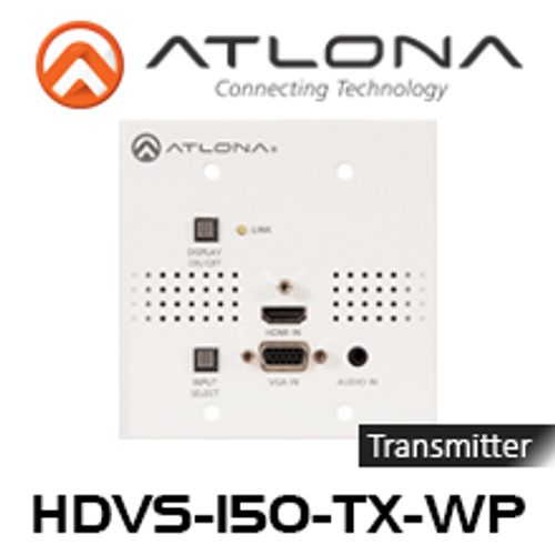 Atlona HDMI and VGA to HDBaseT Switcher Transmitter Wallplate (Up to 70m)