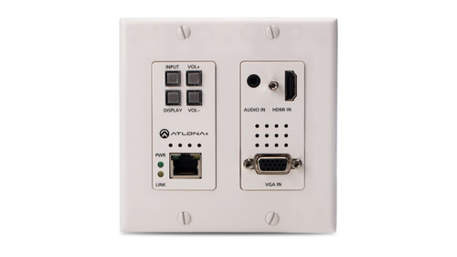 Atlona HDMI & VGA to Ethernet-Enabled HDBaseT Switcher Wallplate (Up to 100m)