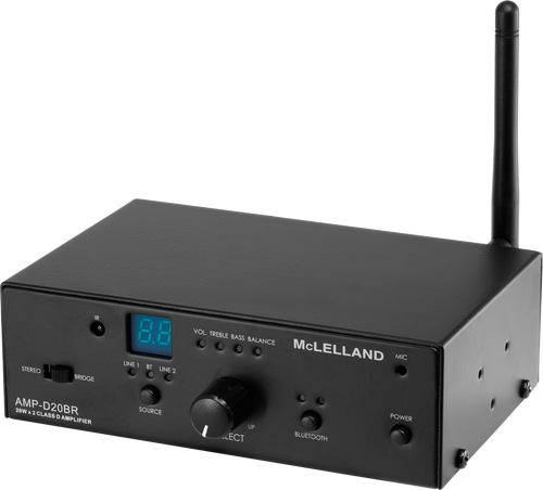 McLelland AMP-D20BR 2CH 20W Class-D Bluetooth Amplifier