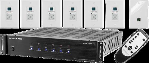 McLelland MAP-1200WD 6 Zone Multi Room Audio Amplifier