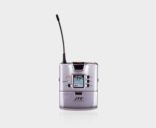 JTS UF-20TB UHF Beltpack Transmitter With Lapel Mic (624-694Mhz)