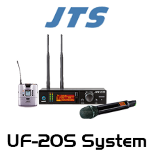 JTS UF-20S Single Channel UHF Wireless Microphone System (624-694Mhz)