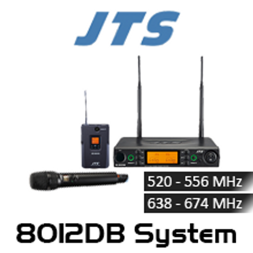 JTS 8012DB 2-CH Diversity UHF Wireless Microphone System