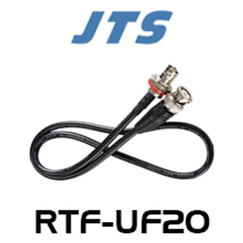 JTS RTF-UF20 60cm BNC-M to BNC-F Antenna Cable