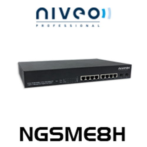 Niveo NGSME8H 8-Port Gigabit L2 Managed PoE Switch With 2 SFP Slots