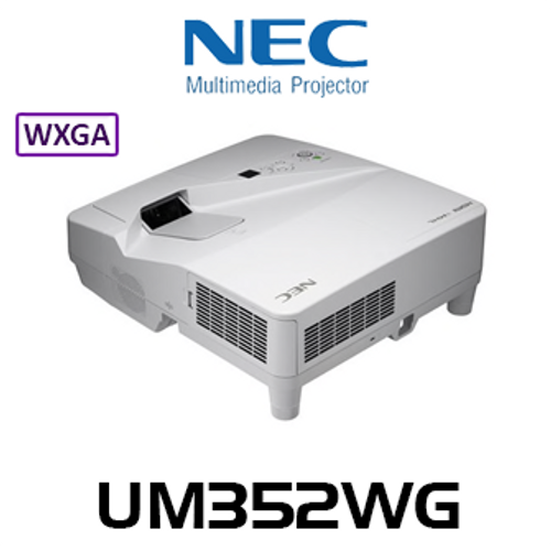 NEC UM352WG 3500 Lumens WXGA Ultra Short Throw LCD Projector With Whiteboard Functions