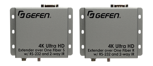 Gefen 4K UHD HDMI Extender Over Fiber w/ RS-232 & 2-Way IR (up to 2km)