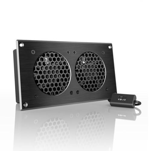 AC Infinity AP5TBKit Dual 80mm Airplate T5 AV Cabinet Cooling Fan Kit