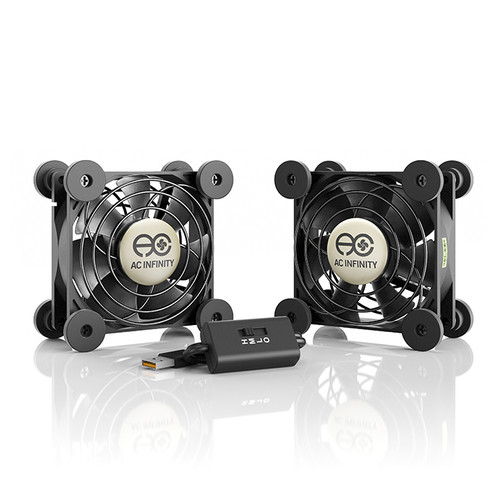 AC Infinity Multifan S5 Dual 80mm Quiet USB Cooling Fan