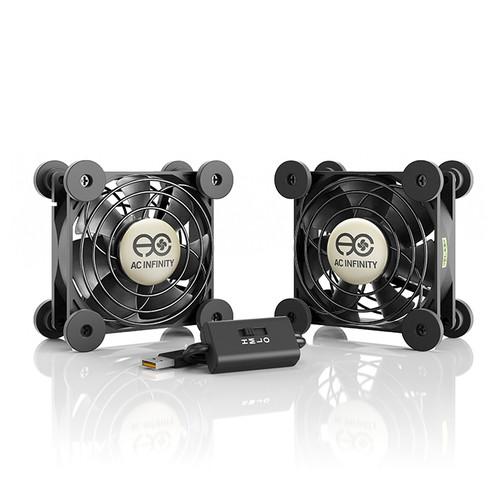 AC Infinity Multifan S5 Dual 80mm Quiet USB Cooling Fan
