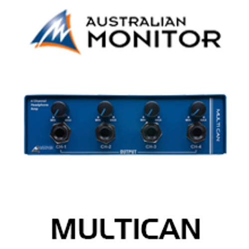 Australian Monitor MULTICAN 4 Channel Headphone Amplifier