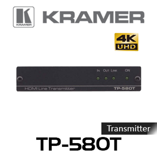 Kramer TP-580T 4K60Hz HDMI to HDBaseT Transmitter With RS-232 & IR (up to 40m)