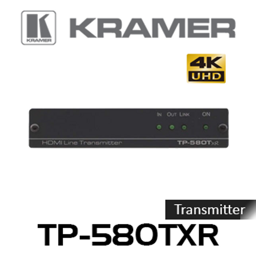 Kramer TP-580TXR 4K60Hz HDMI to HDBaseT Transmitter With RS-232 & IR (up to 130m)