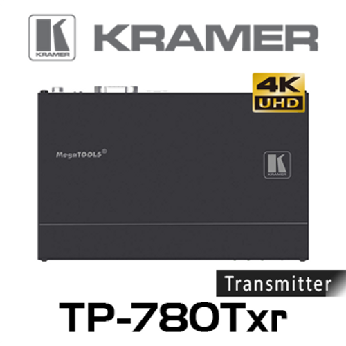 Kramer TP-780TXR 4K60 HDMI to HDBaseT PoE Transmitter w/ Ethernet, RS-232 & IR (up to 100m)