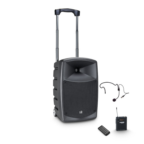 "LD Systems RoadBuddy 10HS B6 10"" Battery Powered Bluetooth Speaker w/ Mixer, Bodypack & Headset"