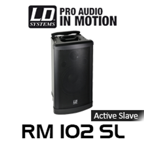 """LD Systems RM102SL RoadMan 10"""" Battery Powered Portable Active Slave PA Speaker"""