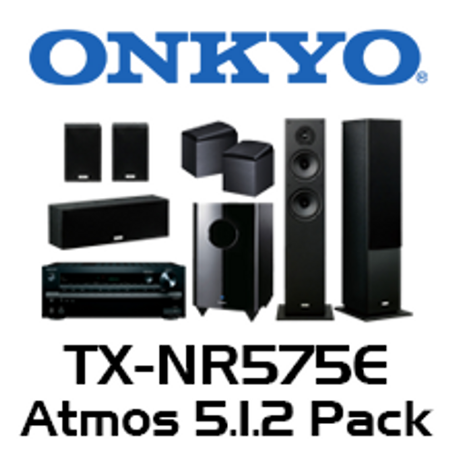 Onkyo TX-NR575E 5.1.2 Atmos Pack with 4800 Floorstanding
