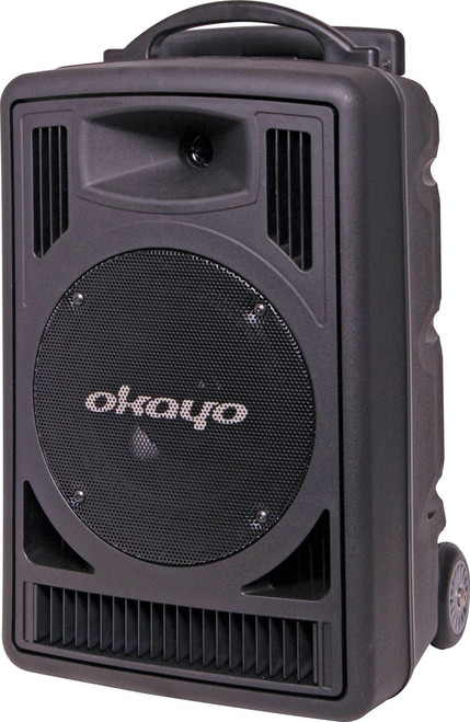 Okayo Compact 120 Watt Portable PA System with 520-544Mhz Dual UHF Receiver