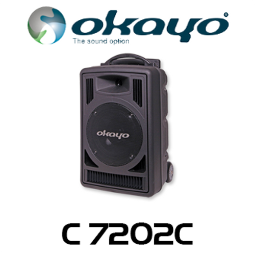 Okayo Compact 80 Watt Portable PA System with 520-544Mhz UHF Receiver