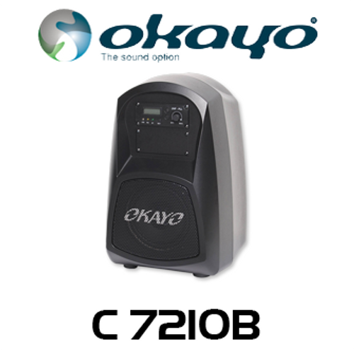 Okayo Compact 30W Portable PA System with MP3 Player & 520-544Mhz Receiver