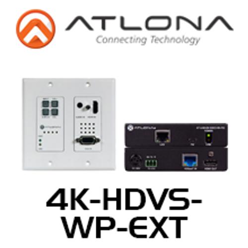 Atlona 4K HDBaseT Kit With 2-Input Wallplate Switcher, Ethernet, Control & POE