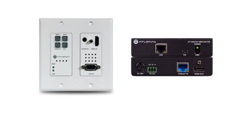 Atlona 4K HDBaseT Kit With 2-Input Wallplate Switcher, Ethernet, Control & POE