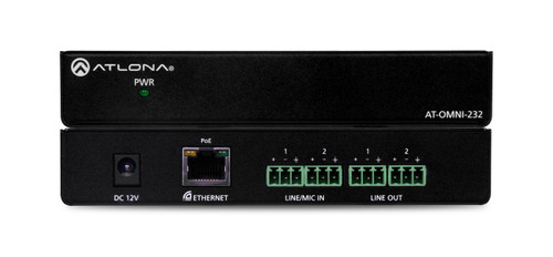Atlona OmniStream Dual-Channel Dante Networked Audio Encoder/Decoder