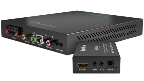 Ex-Demo - WyreStorm HDBaseT Extender Set with Integrated 2.1 Audio Amplifier Kit (70m)