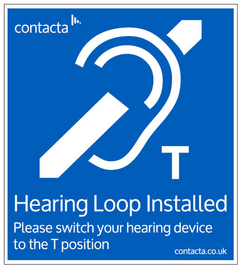 Contacta IL-SN Hearing Loop Sign