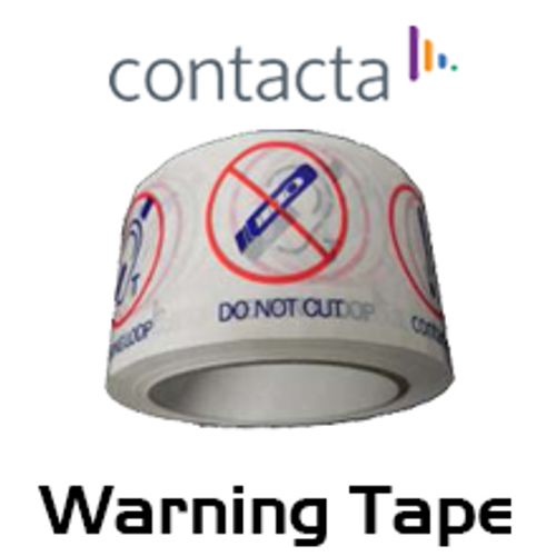 Contacta 48mm x 66m Roll PVC Warning Tape