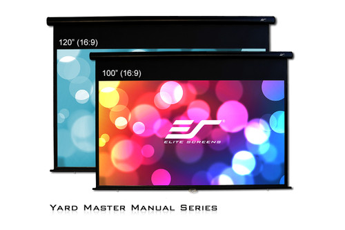 "Elite Screens Yard Master IP65 Manual 16:9 Outdoor Projection Screens (100"" / 120"")"