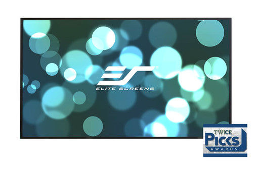 "Elite Screens Aeon CineWhite 4K Edge Free 16:9 Fixed Frame Projection Screens (100-135"")"