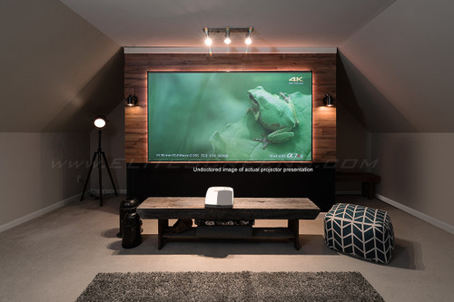 "Elite Screens Aeon CLR 100"" 4K Edge Free 16:9 Fixed Frame Projection Screen For UST Projectors"